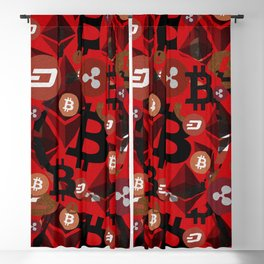 Сrypto currencies money pattern Blackout Curtain