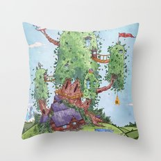Ode to Finn and Jake Throw Pillow