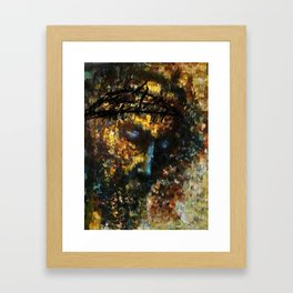jesus christ abstract painting Framed Art Print