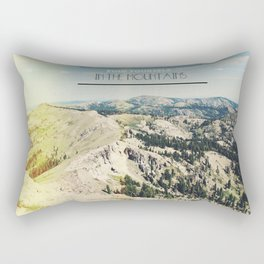 Find Yourself In The Mountains  Rectangular Pillow