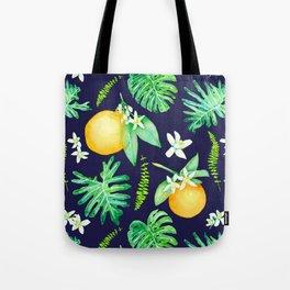 Citrus Tropics - Midnight Tote Bag
