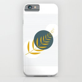 Abstract leaf and circle art  iPhone Case