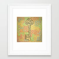 maze runner Framed Art Prints featuring maze by gazonula