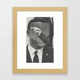 politics as usual Framed Art Print