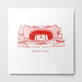 Arrowhead Stadium Metal Print