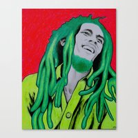 marley Canvas Prints featuring Marley by Ty McKie Creations