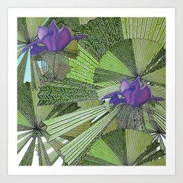 Australica Fan Palm Art Print