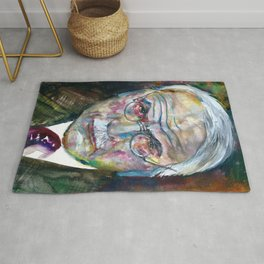 CARL JUNG - watercolor portrait.3 Rug