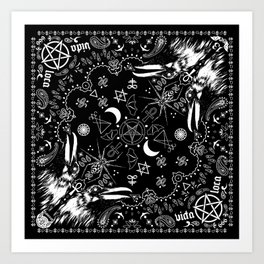 Batscraft: Crows Bandana Art Print