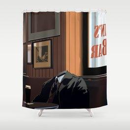 A quiet pint Shower Curtain