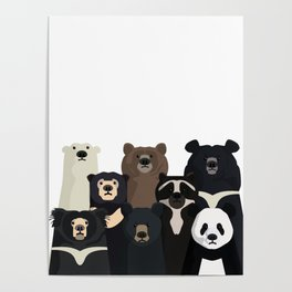 Bear family portrait Poster