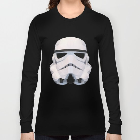 Stormtrooper Low Poly Long Sleeve T-shirt