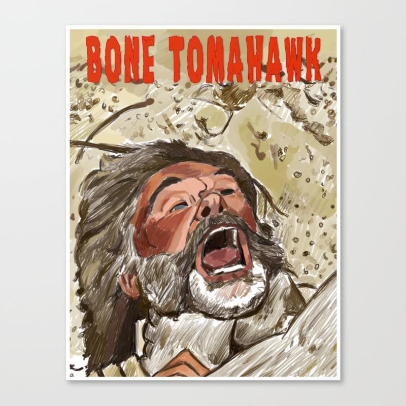 Bone Tomahawk Canvas Print by Adrockhoward CNV8991657