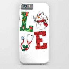 Love CNA Life Snowman Funny Nursing Christmas Day Gifts iPhone Case