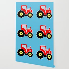 Red toy tractor Wallpaper