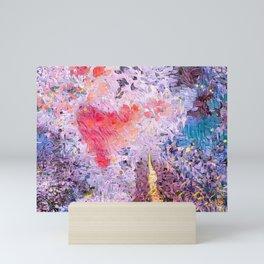 Lavender Hearts Mini Art Print