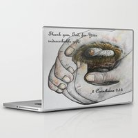 gift card Laptop & iPad Skins featuring His Indescribable Gift by EloiseArt