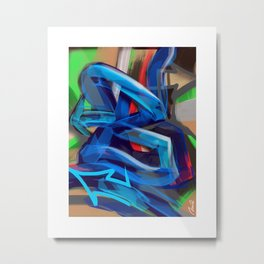 """B is for Bam!"" Metal Print"