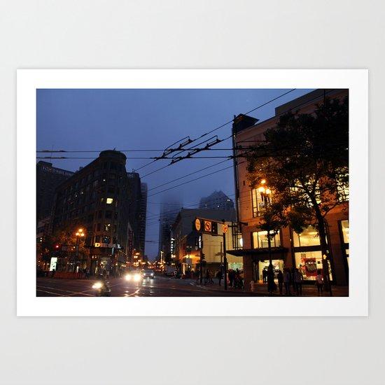 Foggy Art Print