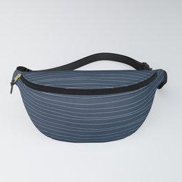 Horizontal White Stripes on Blue Fanny Pack