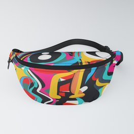 Yellow Street Art Neo Expressionist Portrait of the artist Fanny Pack
