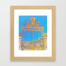 Gate to The King of The Sun Framed Art Print