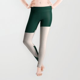 Emerald green abstract art Leggings