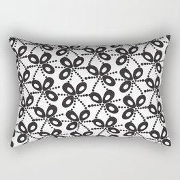 Quirky Black & White Rectangular Pillow