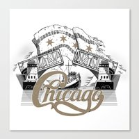 chicago Canvas Prints featuring Chicago by pakowacz