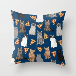 Cats pizza slices food cat lover pet gifts must have cat breeds Throw Pillow