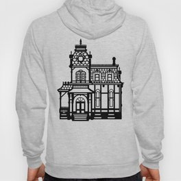 Old Victorian House - black & white Hoody