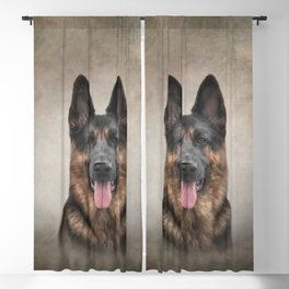 Drawing German Shepherd Dog Blackout Curtain