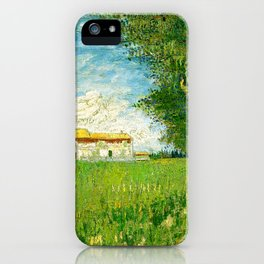 Vincent Van Gogh - Farmhouse in a cornfield iPhone Case