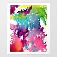 splatter Art Prints featuring Splatter by Laurenlotz
