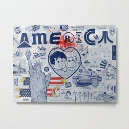 Thanks America / Where Freedom Begins Metal Print