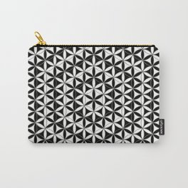 Flower of Life Black White 4 Carry-All Pouch
