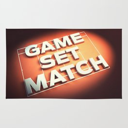 Game Set Match Rug