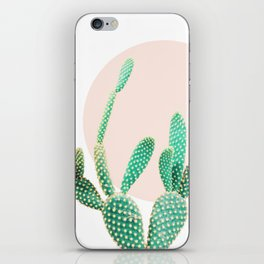 Cacti, Cactus decor, Pastel, Plant, Pink, Minimal, Interior, Wall art iPhone Skin