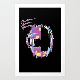 Daft Punk - RAM Remix Art Print