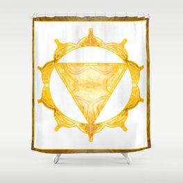 You Are My Sunshine Abstract Chakra Art  Shower Curtain