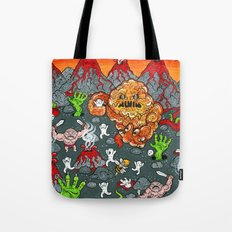 Volcano Lands Tote Bag