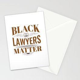 Black Lawyers Matter Stationery Cards