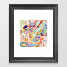 Country Chic lotions Framed Art Print