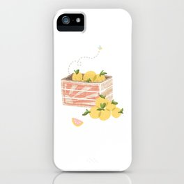 Ruby Red Grapefruit iPhone Case