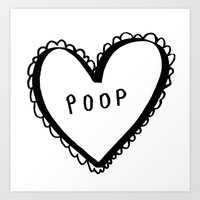 poop Art Prints featuring POOP by ursulantonia