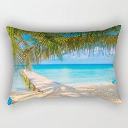 Pier In Tropical Las Palmas De Gran Canaria Spain Ultra HD Rectangular Pillow