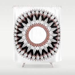 Rose Gold Blossom  Shower Curtain