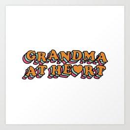 Grandma at Heart Art Print