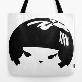 Kokeshi Head Logo Design Tote Bag