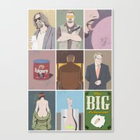 the big lebowski Canvas Prints featuring The Big Lebowski poster by illustrydom